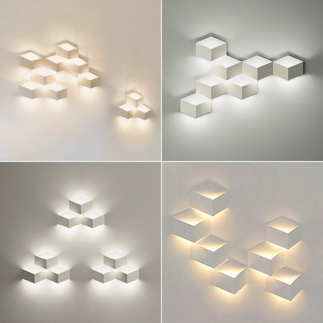 135 heads designer diy led 3d combination of decorative wall 135 heads designer diy led 3d combination of decorative wall geometry square aloadofball Image collections