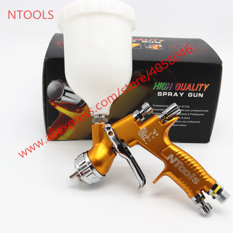 lvmp spray gun professional spray gunTE20 T110 GTI golden paint gun water based automotive guns car