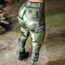 Women Muscle Leggings Army Green Camouflage Printed fitness legging Female Push Up Jeggings Femme Workout Pants