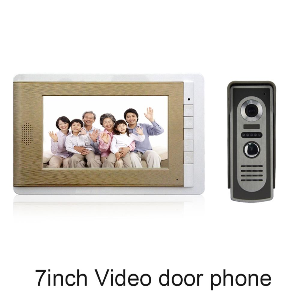 (1 Set) Smart Home Door Intercom System One To One Video Door Phone 7 Inch Display Door Access Control Intercom Telephone