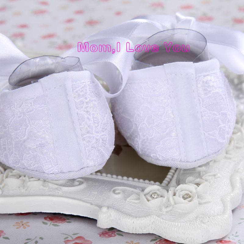 ab8f7be98338 Ivory Party baptism set rhinestone baby shoes first walker