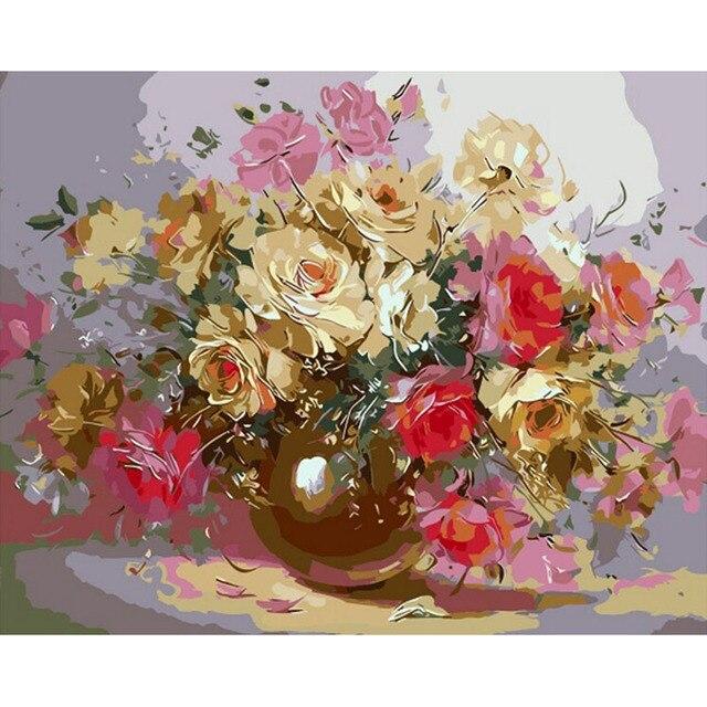 Arte de la pared decoración de arreglos Florales cuadro Sin Marco ...
