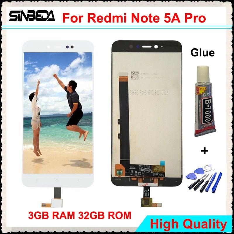 Sinbeda Pour Xiaomi Redmi Note 5A Pro 5.5 LCD Affichage à L'écran Tactile Digitizer Assemblée Pour Redmi Note 5A Pro 3 GB RAM 32 GB ROM