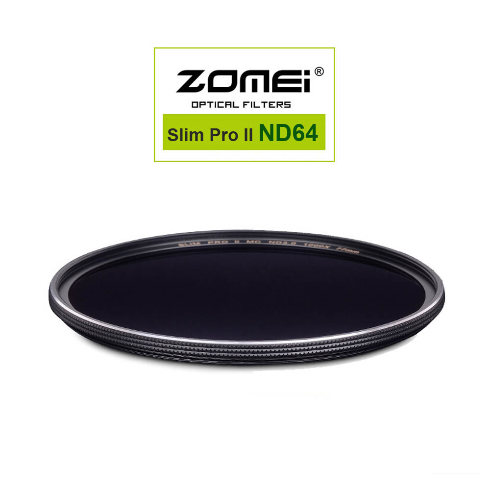 Zomei MC ND64 ND1.8 52mm 58mm 67mm 72mm 77mm 82mm Pro Optical Glass Neutral Density ND Filter for Canon Nikon Sony Pentax Lens