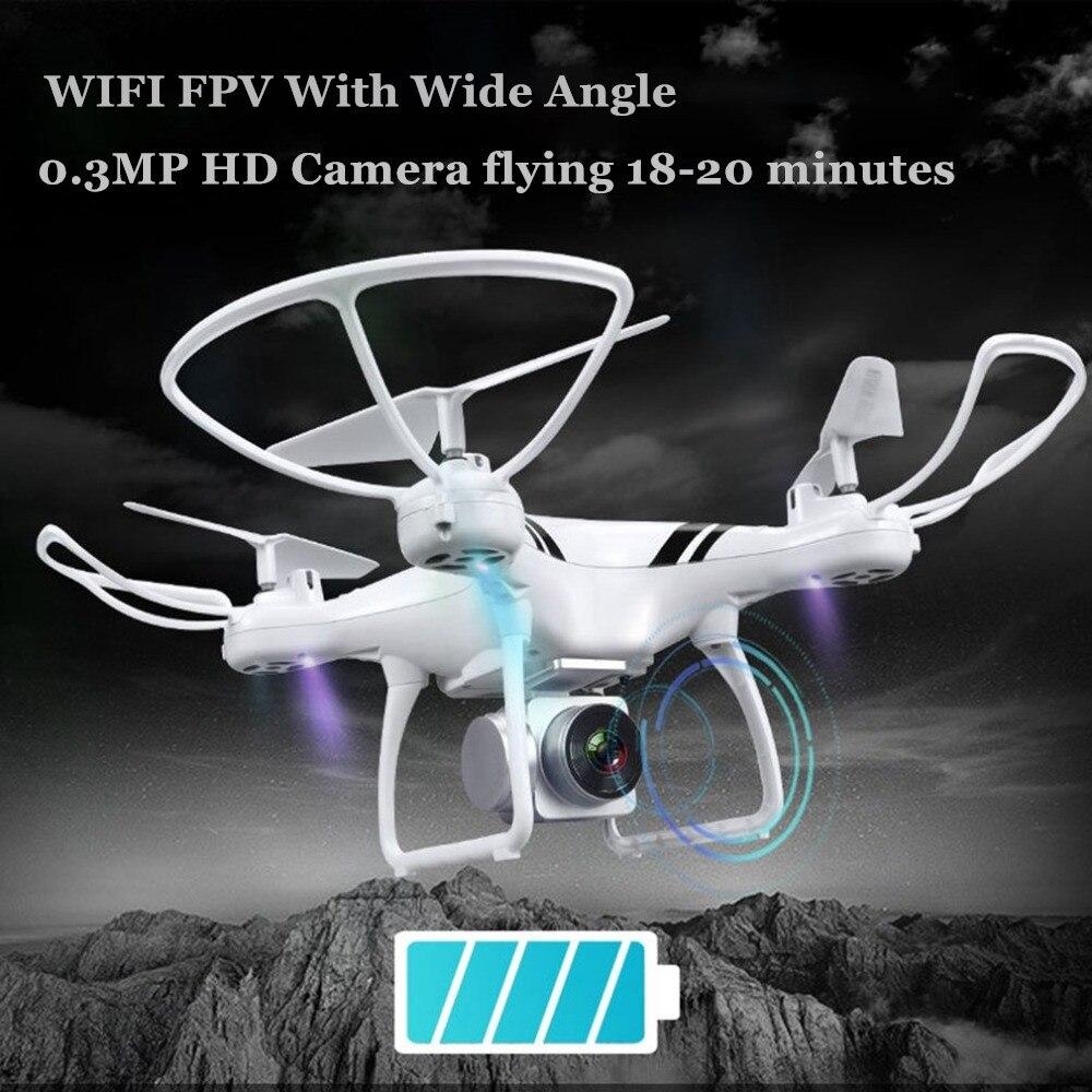 Caméra Drones avec Wifi FPV HD Réglable Caméra Maintien D'altitude Un Retour Key/D'atterrissage/Off Sans Tête RC Quadcopter drone