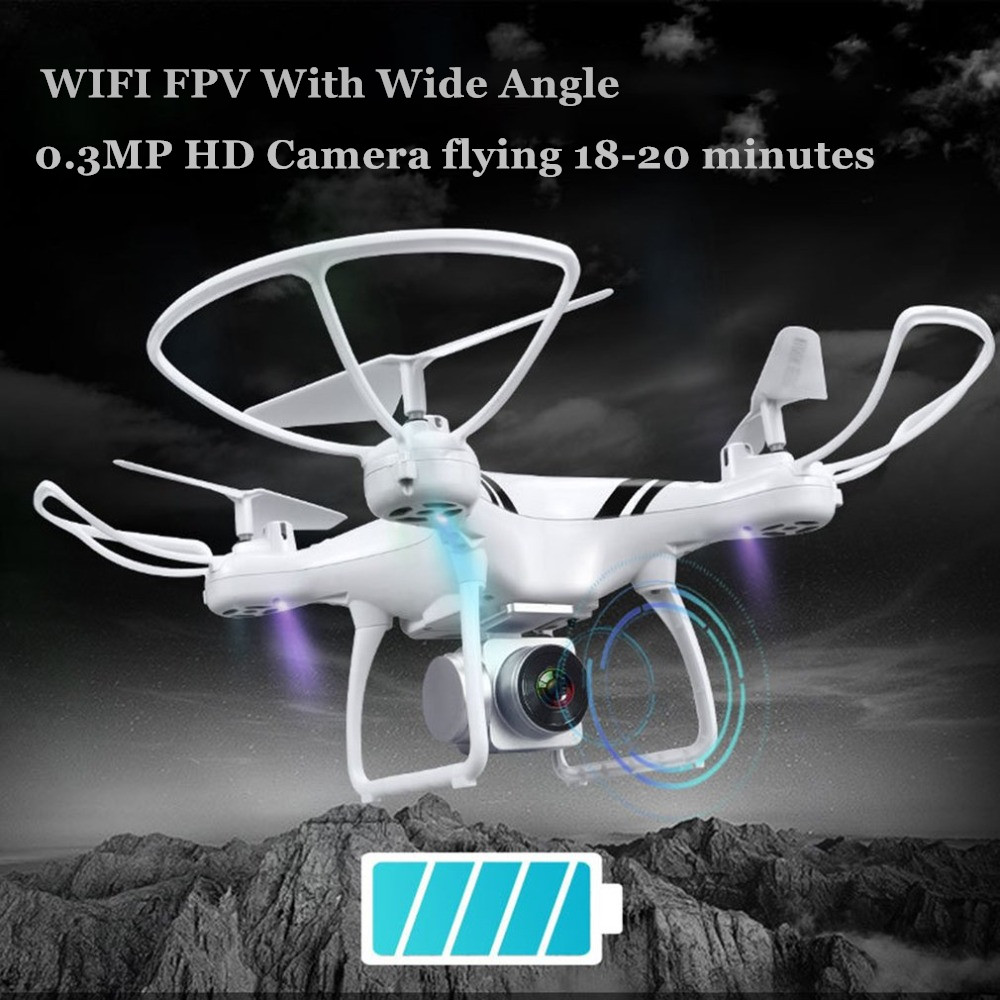 Camera Drones with Wifi FPV HD Adjustable Camera Altitude Hold One Key Return/Landing/ Off Headless RC Quadcopter Drone 2018 rc drone wifi fpv hd adjustable camera 3mp 720p altitude hold one key return headless quadcopter