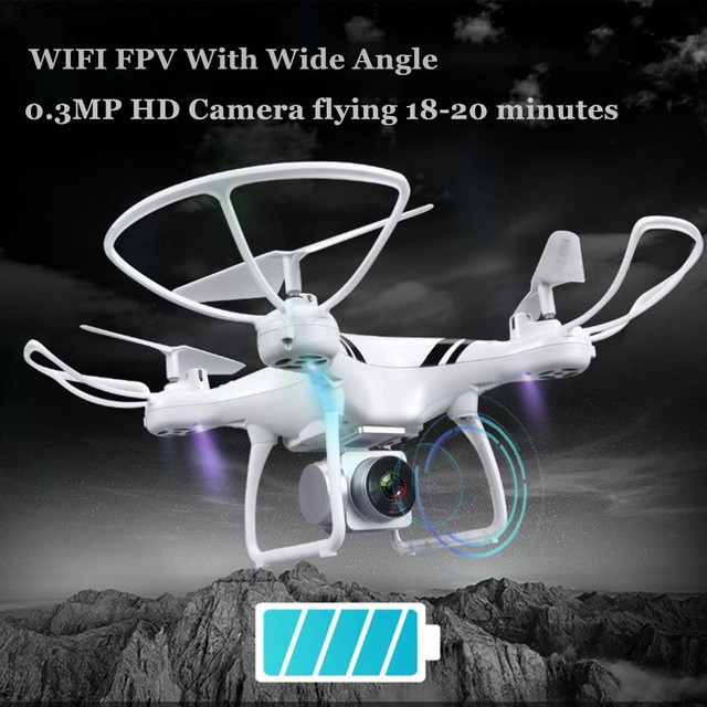 Camera Drones with Wifi FPV HD Adjustable Camera Altitude Hold One Key Return/Landing/ Off Headless RC Quadcopter Drone