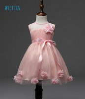 Princess Flower Girl Dress Party And Wedding Birthday Child Girl Tulle Lace Lotus Summer 2018 Child