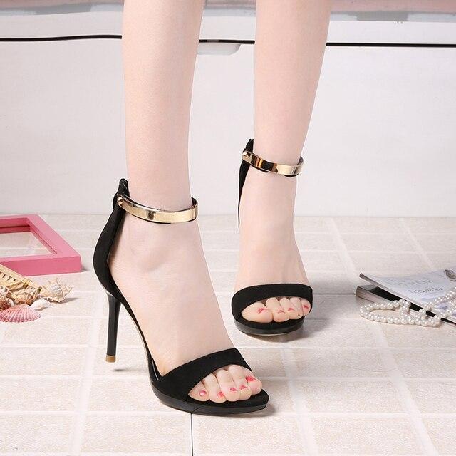 4d7e81dc2 Mulheres Sandálias gladiador Mulheres Sandálias Douradas de Salto Alto T  cinta-Sandálias Mujer Femme Sandale