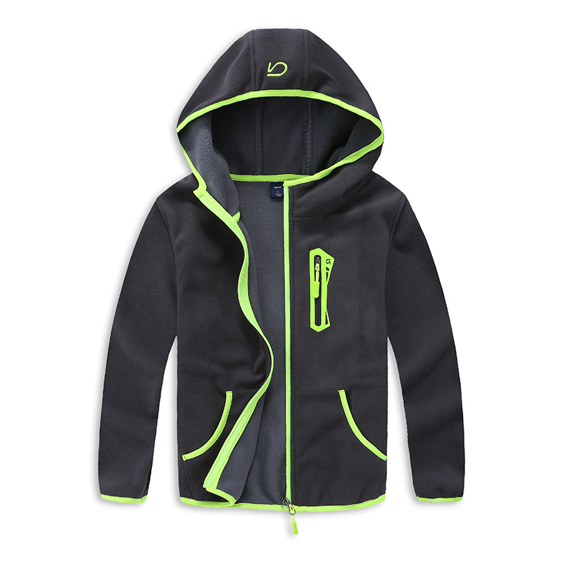 spring and autumn trendy boys sport hooded jacket kids outerwear fall 2017 new arrival kids polar fleece soft shell clothing 2