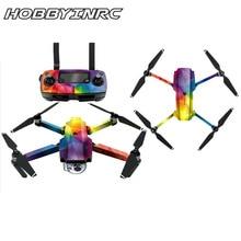 Hobbyinrc Drone полный Для тела Наклейки Для тела Батарея защиты кожи Водонепроницаемый для dji Мавик Pro Цвет случайный для машины arm