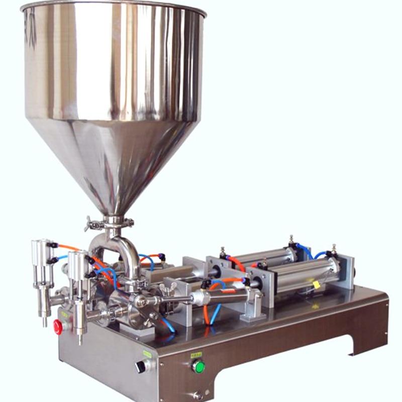 Semi- automatic double head cosmetic filling machineSemi- automatic double head cosmetic filling machine