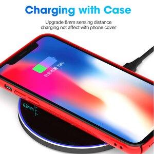 Image 5 - DCAE 15W מהיר טעינה אלחוטי מטען עבור סמסונג S10 S9 S8 הערה 10 סוג C USB 10W Qi טעינה מהירה Pad עבור iPhone 11 XS XR X 8