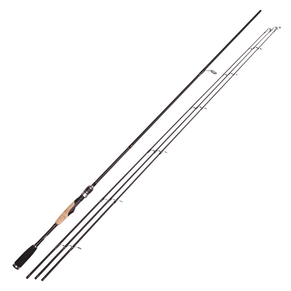 2.1m/2.4m Carbon Spinning Fishing Rod ML M MH 3 Tips Super Light Casting Rod Fast Action Lure Rod Pole Fishing Tackle trulinoya 2 1m 7 0 soft carbon spinning fishing rod with two tips m mh power fishing tackle