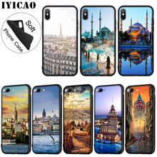IYICAO Turkey Istanbul Sceneary Building Painted Soft Silicone Phone Case for iPhone XR X XS Max 6 6S 7 8 Plus 5 5S SE 10 Cover(China)