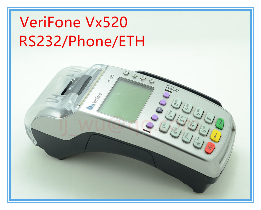 Verifone Used Vx520 RS232/ETH/Dial-up + PP1000SE CTLS POS Terminals verifone vx610 omni 5600