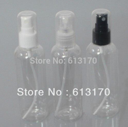 100ml transparent refillable pet bottle men sprayer perfume full cover skin care water bottle Free shipping