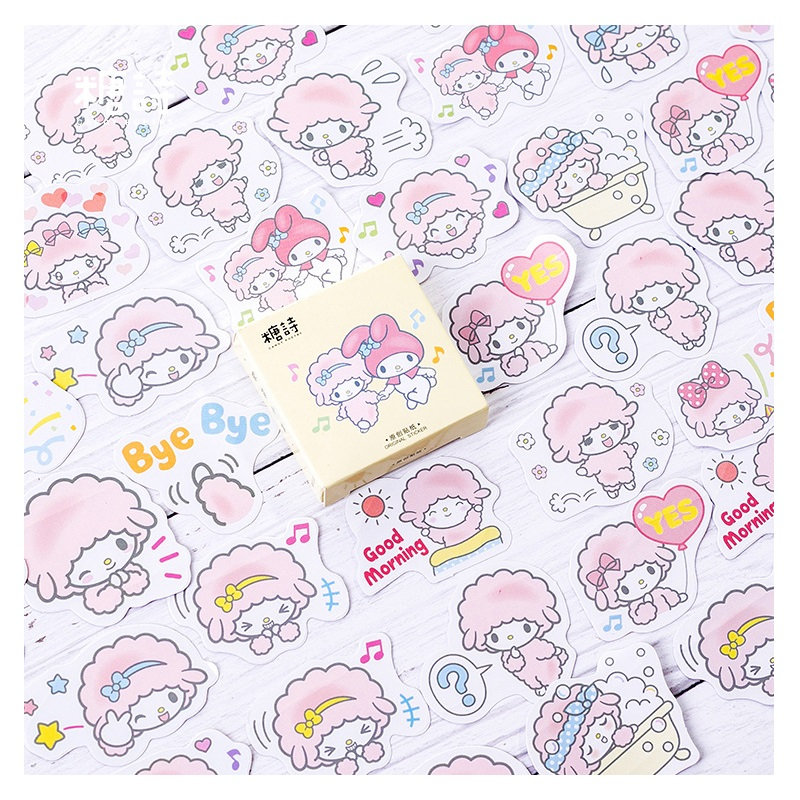 Stationery Stickers Apprehensive 45 Pcs/set Lovely Cartoon Lamb Mini Paper Sticker Diy Diary Scrapbooking Stickers Christmas Decoration Delicacies Loved By All