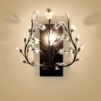 Bedroom Bedside Wall Lamps TV Background Wall Lamps Nordic American Crystal Candle Lights ZL243 LU7105