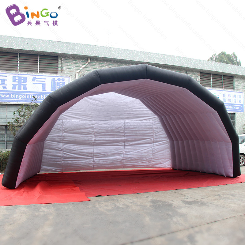 Humorous 7m X 5m X 4m Black Outside White Inside Inflatable Tent , Personalized Inflatable Canopy Tent Toy Tent
