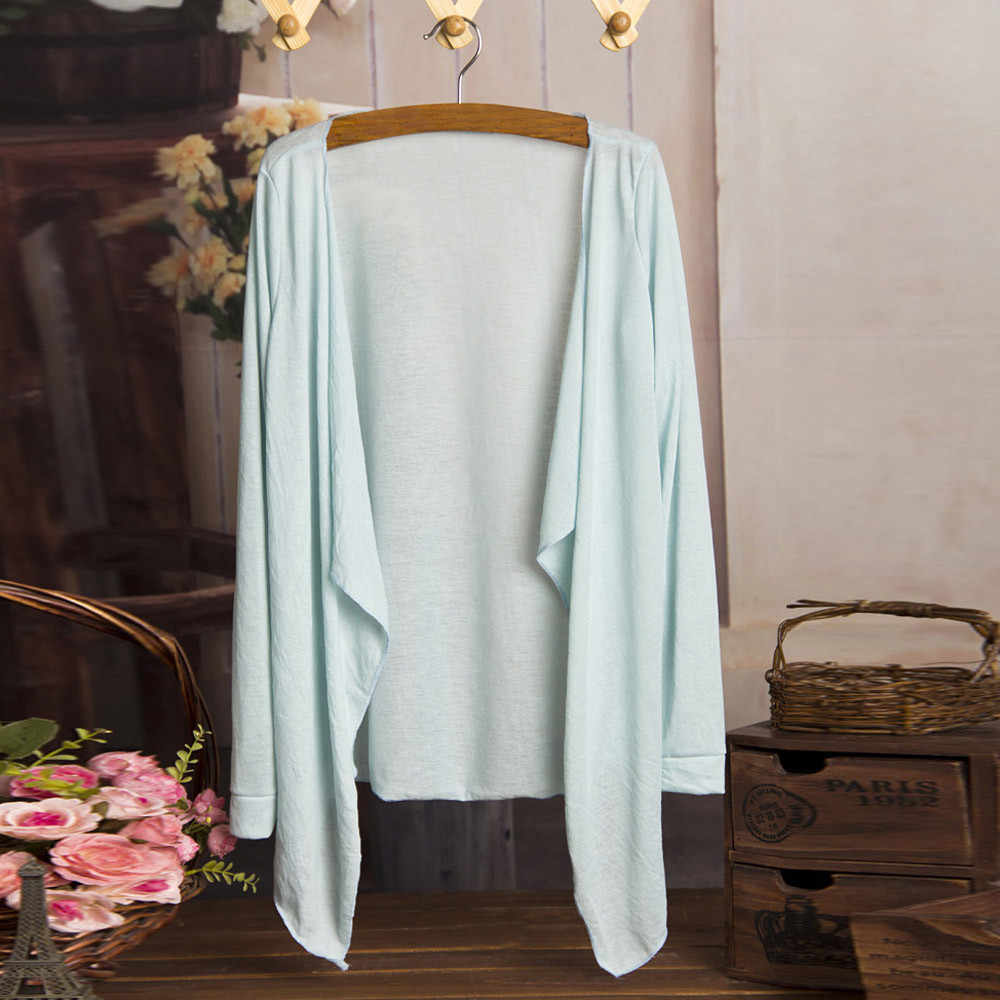 Fashion Summer Modal Sun protection clothing Women Long sleeve Cardigan Jacket Female Thin Air conditioner shirt Casual Top #YL5