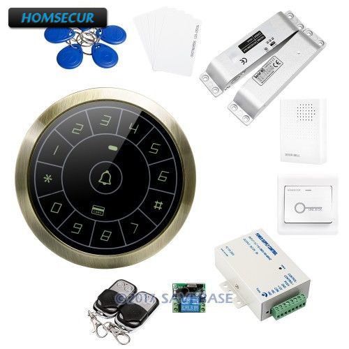 HOMSECUR DIY Anti Vandal 125Khz RFID Access Control System With Waterproof Design Data Copy and Backup