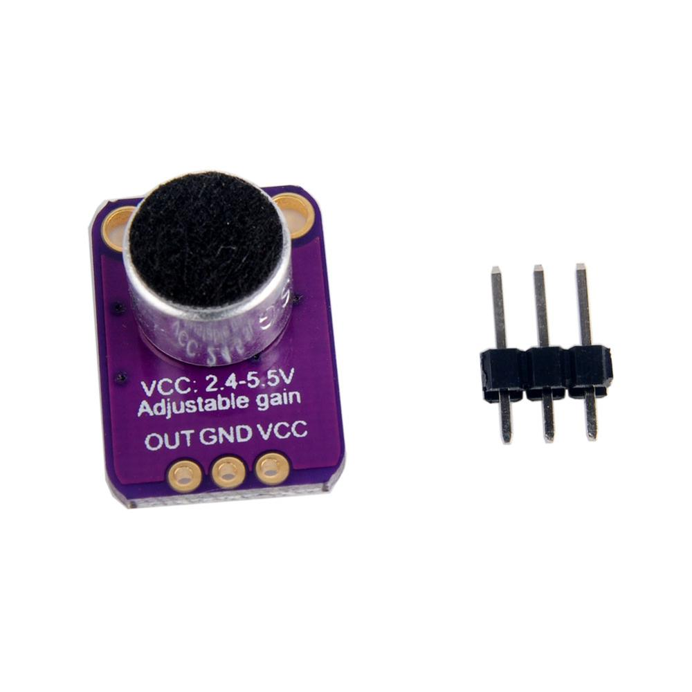 Electret Microphone Amplifier Sensor MAX4466 with Adjustable Gain for Arduino