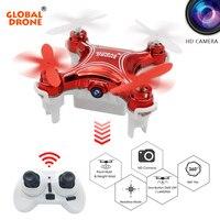 Global GW009C-1 Mini Drone Drone con cámara de Altitud Headless Modo Holder RC Quadcopter Helicóptero con Cámara HD VS H36 JY018