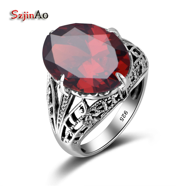 Fine Jewelry Womens Red Garnet Sterling Silver Cocktail Ring uuGrli