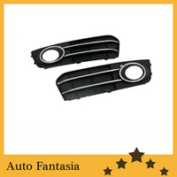 Business Gift Front Fog Light Grille With Chrome Line Accent For Audi A4 B8