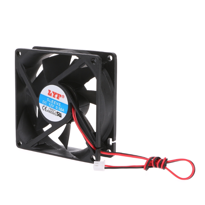 ANENG HOT! 80 x 80 x 25mm 12V 2-pin brushless cooling fan for computer CPU System Heatsink Brushless Cooling FanANENG HOT! 80 x 80 x 25mm 12V 2-pin brushless cooling fan for computer CPU System Heatsink Brushless Cooling Fan