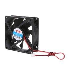 ANENG HOT! Ventilateur de refroidissement pour processeur sans balais à 2 broches, taille 80x80x25 mm, 12 V, dissipateur thermique,