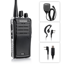 BAOFENG BF-R6 Two Way Radio UHF 400-470MHz 16 Channels Walkie Talkie + Earphone Headset Mic + Speaker + USB Program Cable