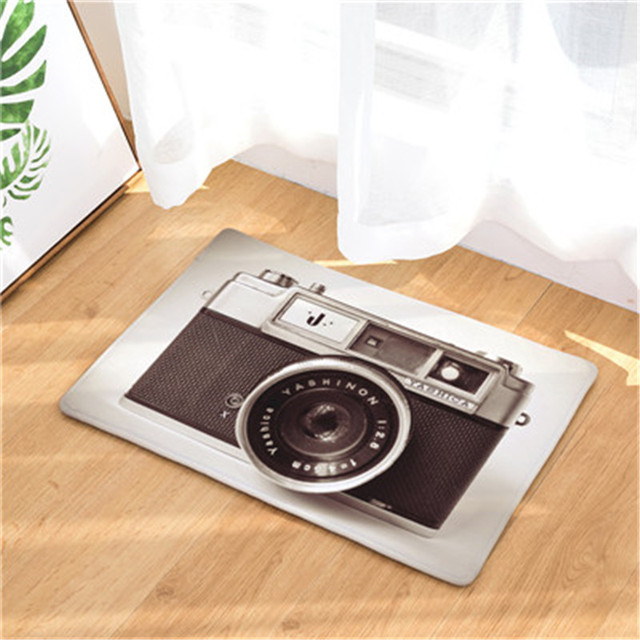 New Home Decor Mats 3D Camera Carpets Non Slip Kitchen Rugs For Home Living  Room