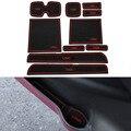 10 Unids/set Carstyling Pad Ranura Puerta Interior Ranura Estera de Látex Antideslizante Cojín Para Suzuki Swift 2005-2010 2013-2016