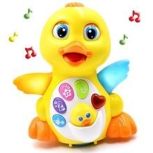 צעצוע כלי נגינה למידה וחינוך מוסיקלי ברווז צעצועי פלסטיק אלקטרוני חיות מחמד מתכוונן קול צעצועים לילדים