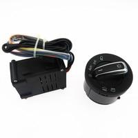 SCJYRXS 5ND941431B 5ND 941 431 B Chrome Headlight Switch Auto Sensor Light + Control Sensor Module For Passat B5 Golf MK4