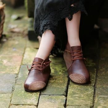 Tayunxing handmade shoes winter Cotton and linen weaving genuine leather women pumps casual retro comfort 106-23/106-36warm