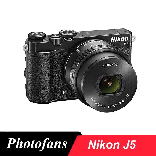Nikon 1 J5 cámara Digital sin espejo con lente de PD-ZOOM de 10-30mm Relojes deportivos para exteriores SYNOKE, relojes de pulsera digitales para correr y escalar para hombres, reloj militar resistente a la alarma de impacto resistente al agua