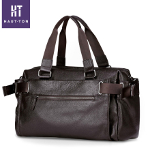 HAUTTON Fashion Men Bag Genuine Leather Handbag Shoulder Bags Business Large Capacity Brand Men Travel Bags