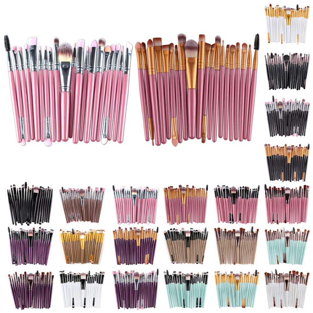 Professional 20Pcs Makeup Brushes Set Makeup Brushes Powders Foundation Eyeshadow Make Up Brushes Cosmetics Soft Synthetic Hair набор для вышивания с бисером riolis богоматерь казанская