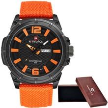 NAVIFORCE 2016 Men's Luxury Watch Military Watch Men Quartz wristWatch Sports Date Clock Brand Men Casual Nylon Watch 9066