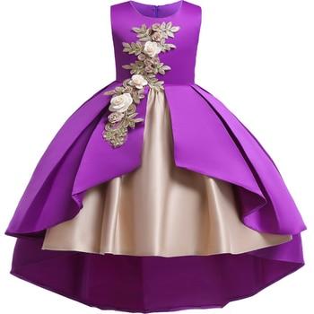 fe06a00a Bordado de las niñas princesa vestido bebé niñas vestidos vestido de los niños  para las niñas de fiesta de princesa niño niña traje