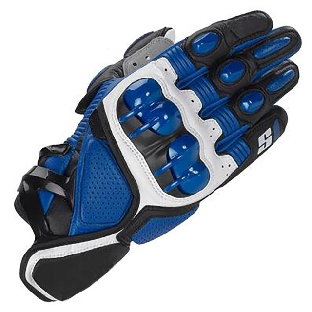 Hot S1 MOTO Motorcycle Racing Gloves Top Leather Black Red White Fashion Motocross Motorbike Guantes Urban Riders Luvas blue