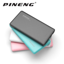 Pineng Power Bank 10000mAh External Battery Ultra Thin Portable Mobile Charger With Dual USB Power bank for iPhone6s Samsung