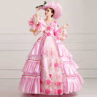 Princess Sissi & Marie Antoinette Dress Inspired Royal Ball Gowns Bridal Dress Masquerade Ball Gown Party Dress PINK