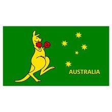 Бесплатная доставка xvggdg флаг Австралийский боксерский с кенгуру