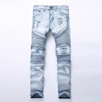 Men S Ripped Destroyed Distressed Slim Fit Jeans Fashionable Colorful Super Comfy Stretch Skinny Fit Denim