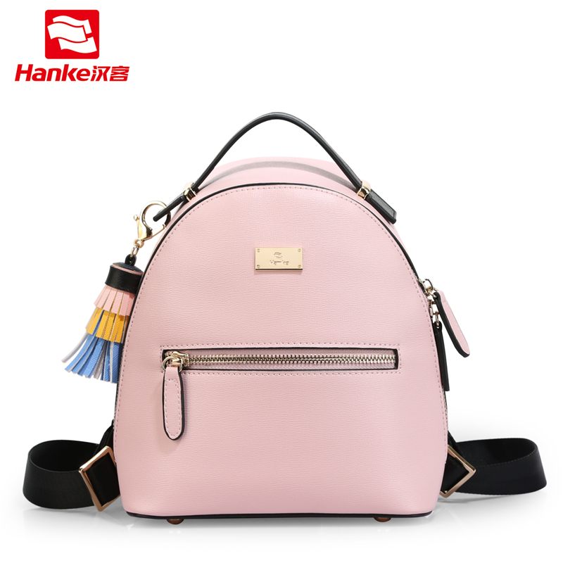 Hanke Fashion Tassel Women Backpack Small Mini PU Backpacks for Girls Female Cute Casual School Shoulder Bag Travel Bagpack Lady aequeen womens backpacks nylon backpack shoulder bags fashion ladies small ruck school for girls travelling shopping bag