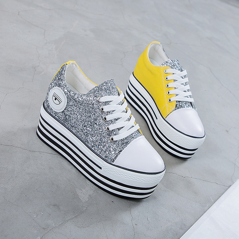 White Woman Casual Shoes 2019 Spring Autumn Female Canvas Shoes Thick Bottom Lace Up Ladies Flats Fashion High Quality FootwearWhite Woman Casual Shoes 2019 Spring Autumn Female Canvas Shoes Thick Bottom Lace Up Ladies Flats Fashion High Quality Footwear